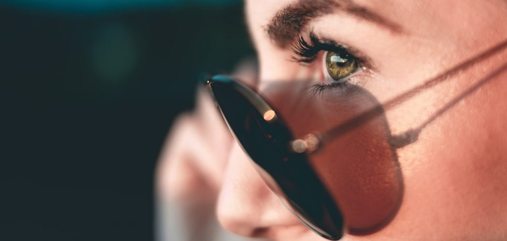 highlight eyelashes